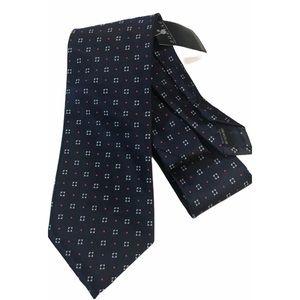Zodiac Kingcrest Navy/White/Red Tie